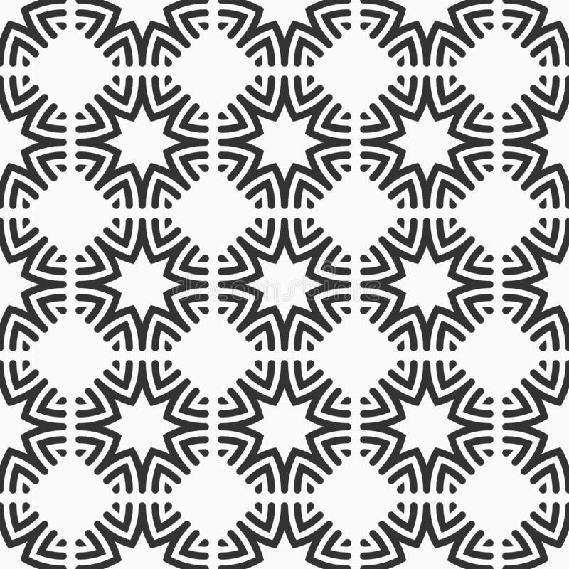 Orientalisk sömlös modell för åtta spetsiga stjärnor vektor illustrationer