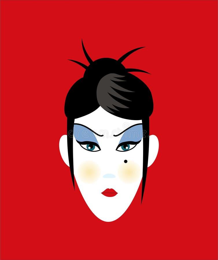 Download Orientalisk ståendekvinna stock illustrationer. Illustration av ethnic - 507448