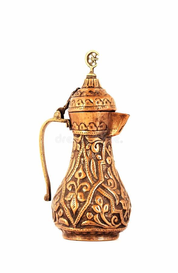 Orientalisk te- och kaffekruka fotografering för bildbyråer