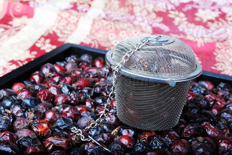 Orientalisk teinställning arkivfoto