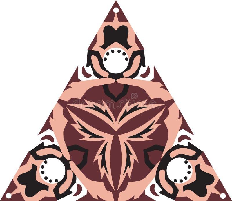 Orientalisk traditionell triangulär modell för lotusblommablomma stock illustrationer
