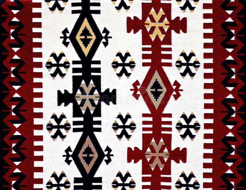 Orientalisk turkisk mattmodell arkivfoto
