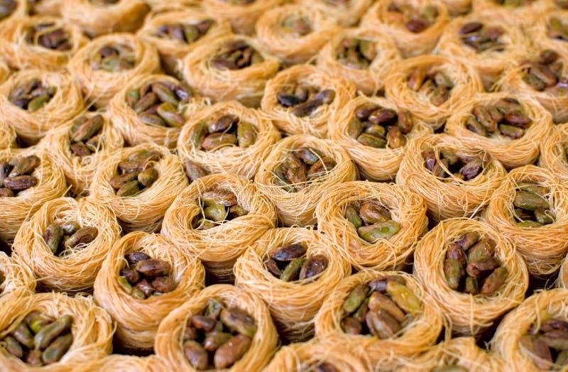 orientaliska pistachesötsaker arkivbild