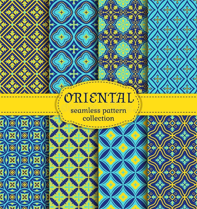 Orientaliska sömlösa modeller vektor illustrationer