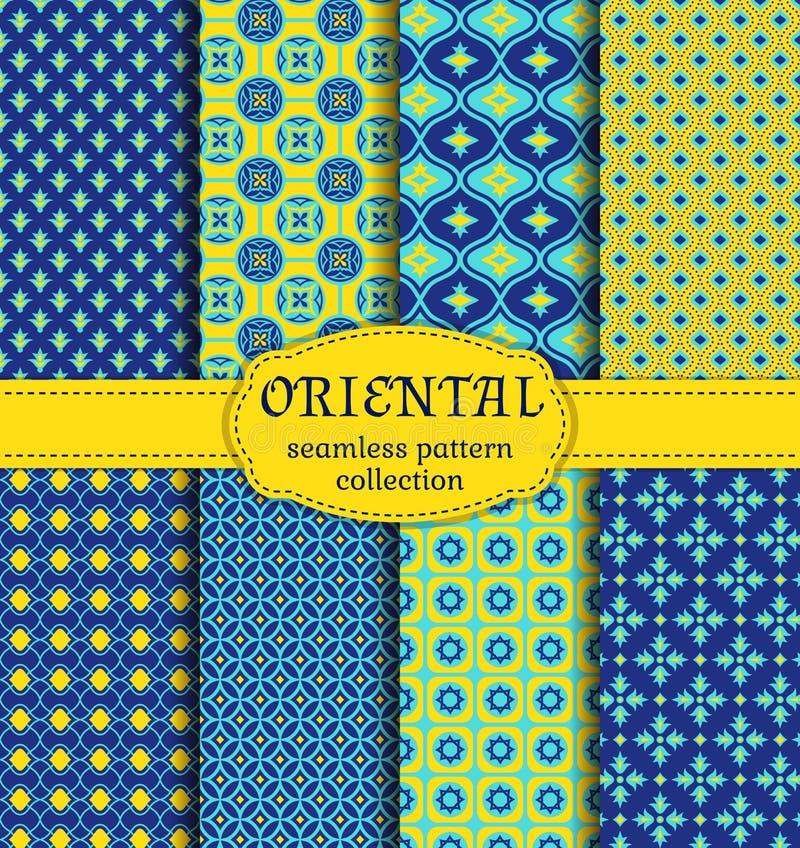 Orientaliska sömlösa modeller royaltyfri illustrationer