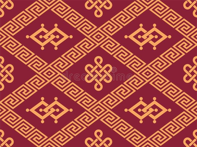 Orientaliska Seamless belägger med tegel royaltyfri illustrationer