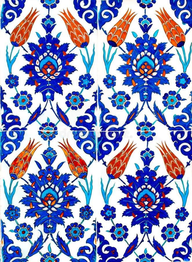orientaliska tegelplattor stock illustrationer