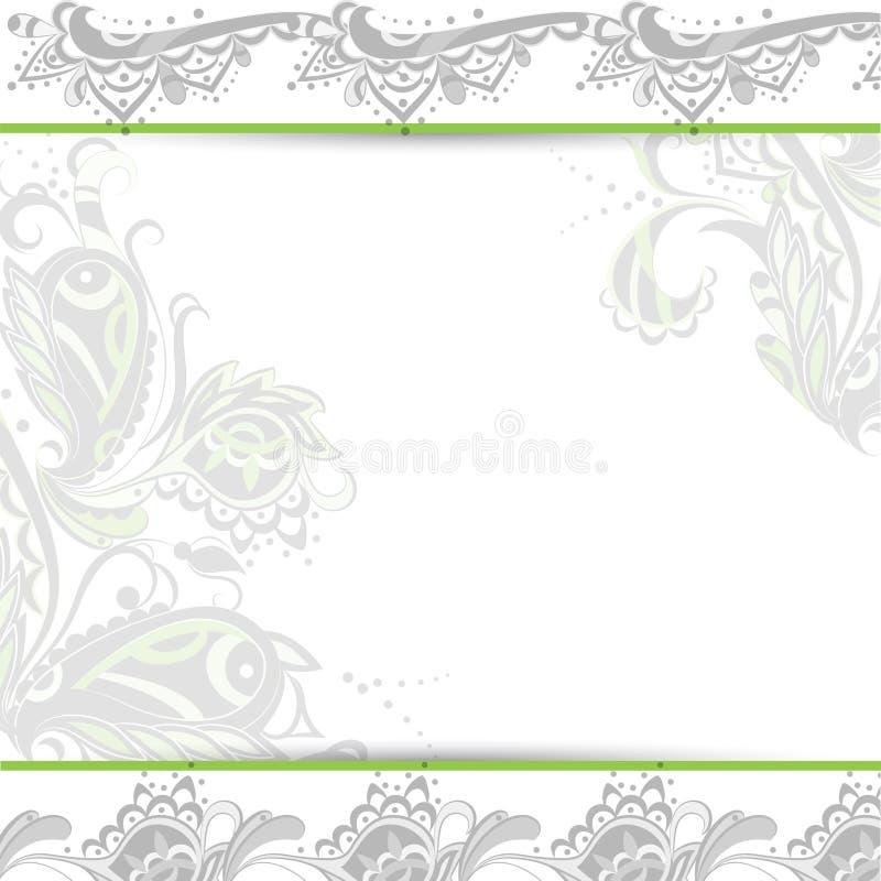 Orientaliskt blom- för abstrakt bakgrund vektor illustrationer