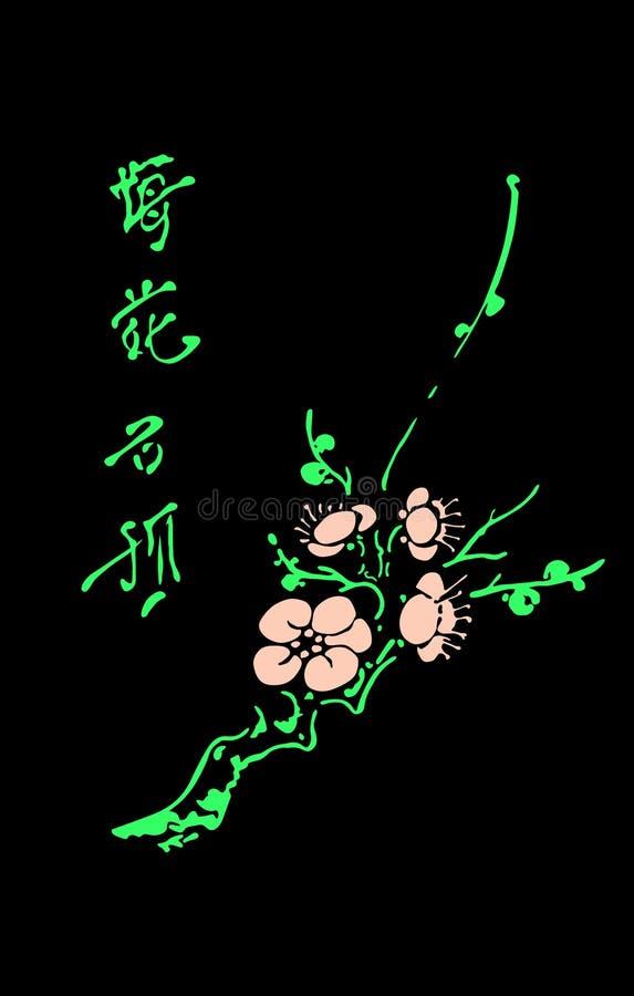 orientaliskt Cherry stock illustrationer