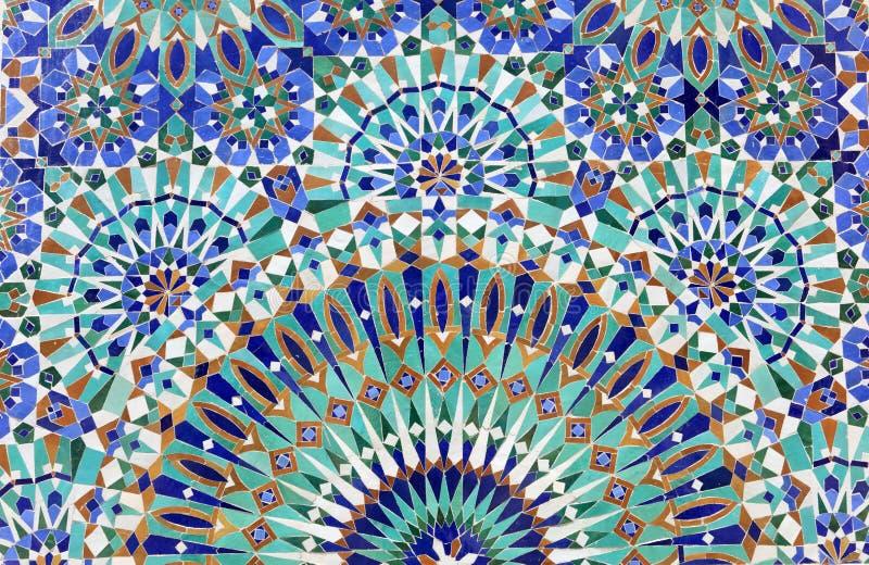 Orientalna mozaika w Maroko fotografia stock