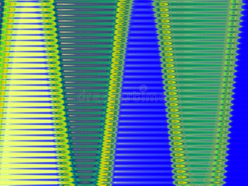 Orientalne żółte błękitnej zieleni formy, geometrii tło, grafika, abstrakcjonistyczny tło i tekstura, ilustracja wektor