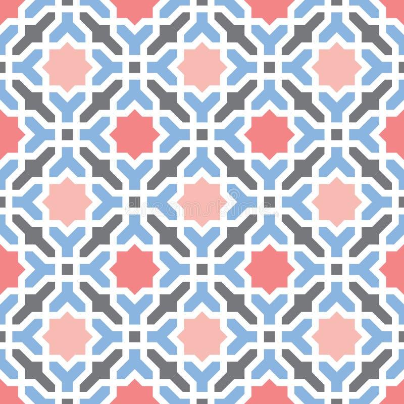 Orientalny arabski geometrical dekoracyjny wzór ilustracja wektor
