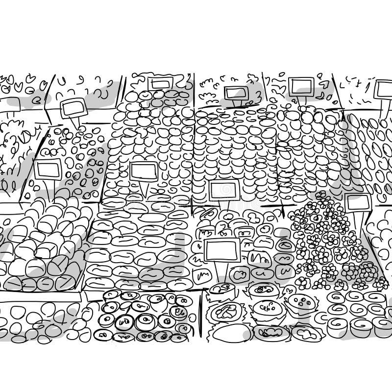 Orientalny bazar, nakreślenie dla twój projekta ilustracji