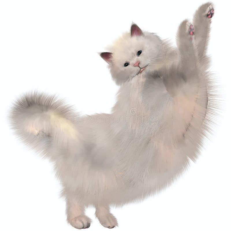Orientalny Biały kot fotografia stock