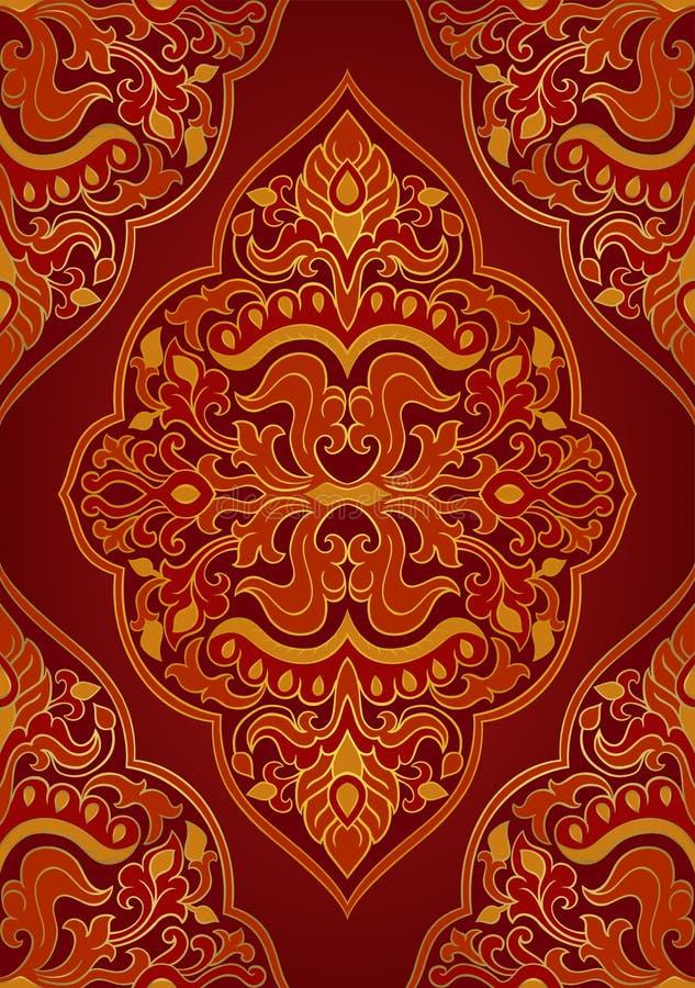Orientalny czerwony ornament ilustracji
