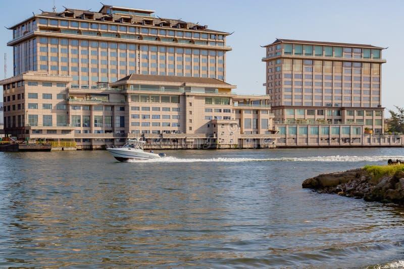 Orientalny hotel na pięć cowries zatoczce Lagos Nigeria zdjęcia stock