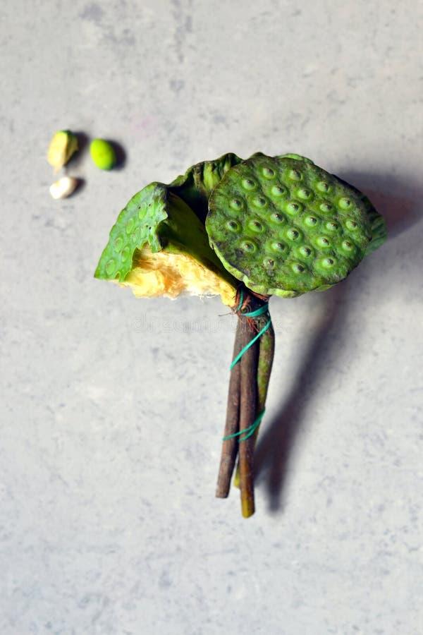 Orientalny jedzenie - Lotus ziarna fotografia royalty free