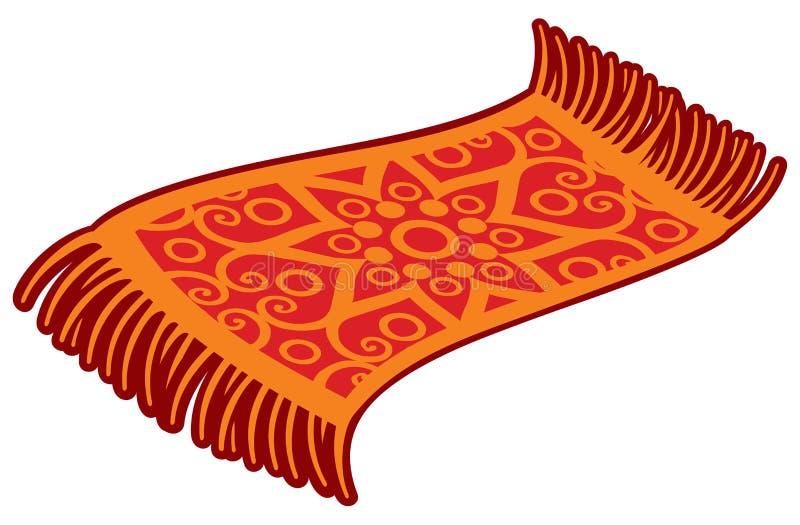 Orientalny magiczny dywan ilustracja wektor