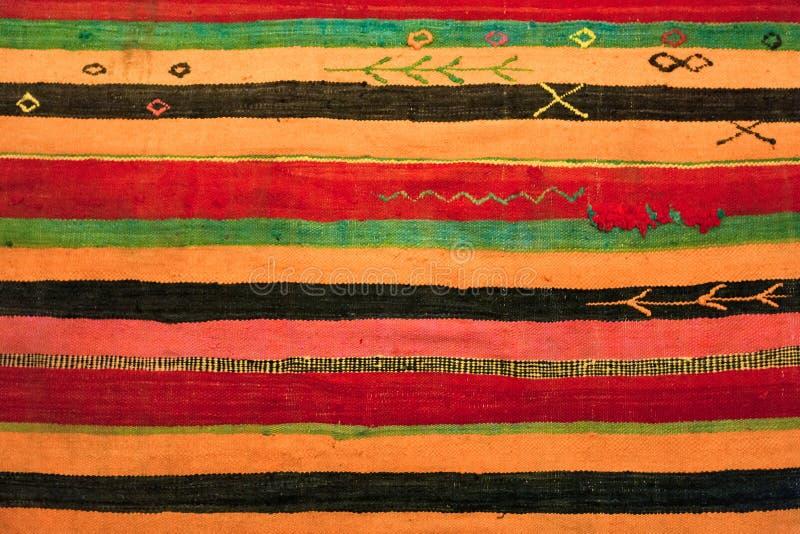Orientalny ornamentu dywanu tło fotografia stock