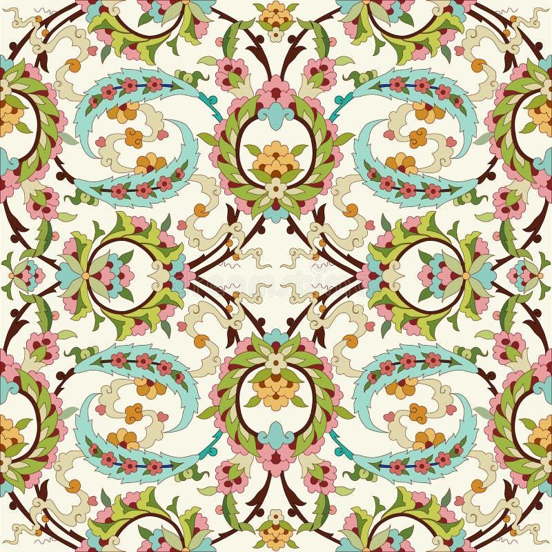 Orientalny ottoman projekt czterdzieści ilustracja wektor