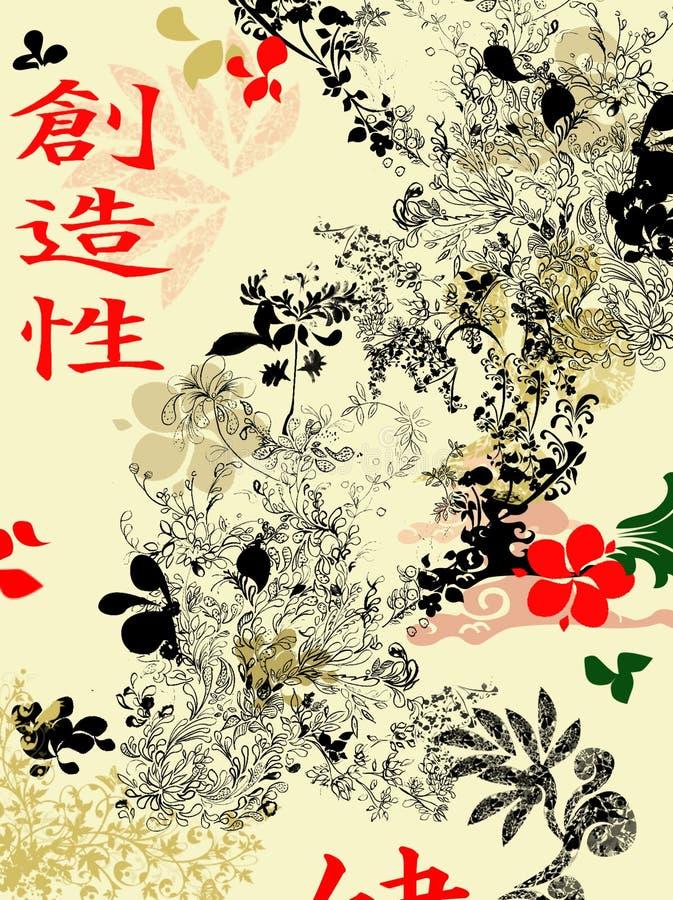 Orientalny tło ilustracja wektor