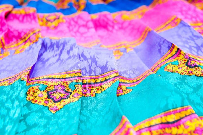 Orientalny tkanina druk fotografia stock