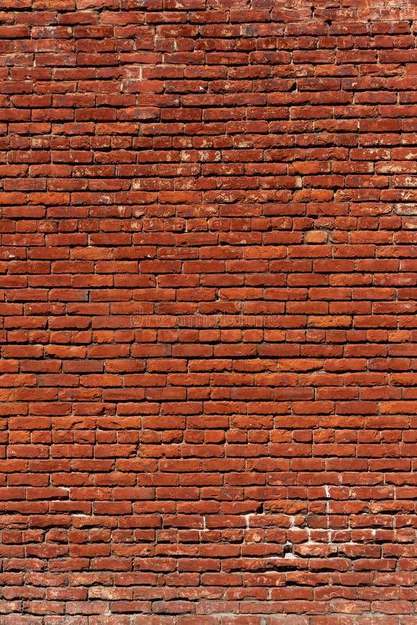 Orientamento rosso del ritratto del fondo del modello del muro di mattoni Grungy fotografie stock libere da diritti