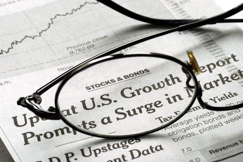 Orientation sur l'accroissement des États-Unis de l'économie photos libres de droits