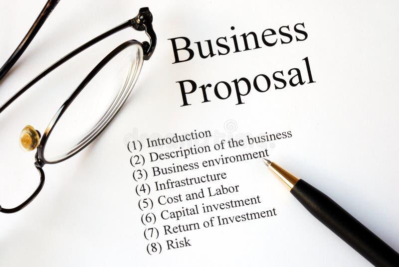 Orientation sur la proposition d'affaires photos stock