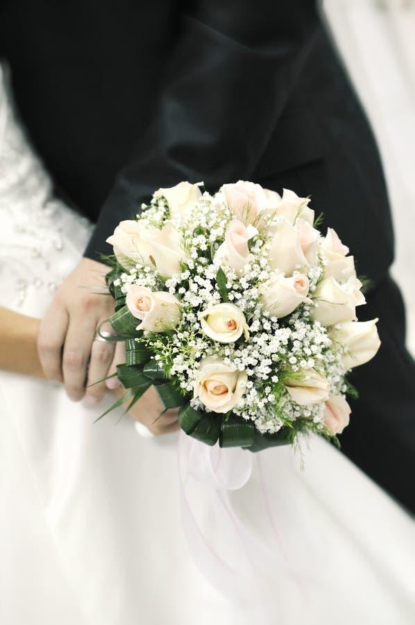 Orientation sur le bouquet nuptiale images libres de droits