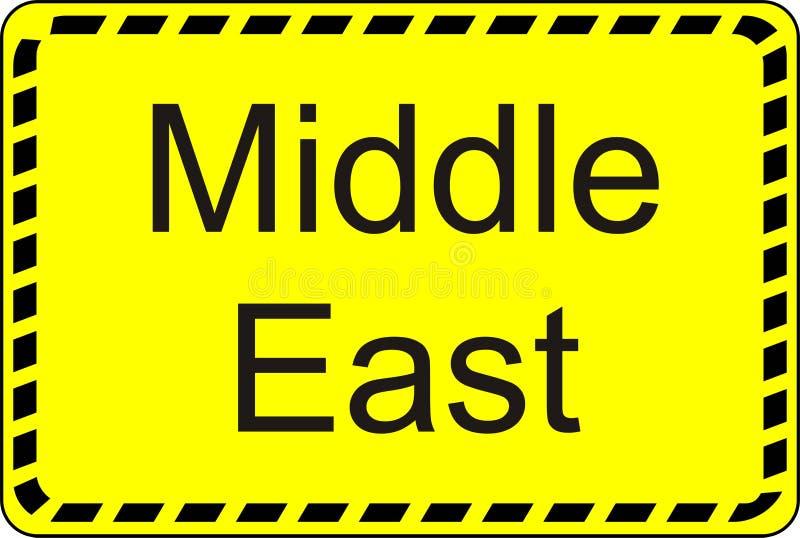 Oriente Medio ilustración del vector