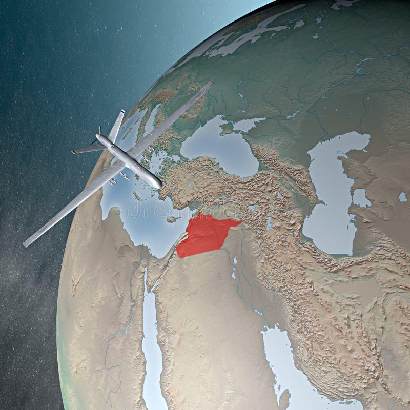 Oriente Medio según lo visto del espacio, abejón