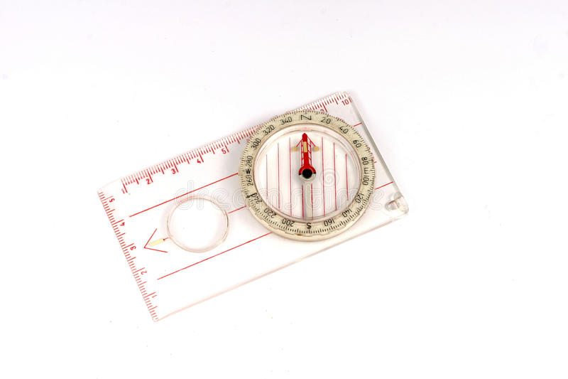 Orienteering compass isolated. stock images