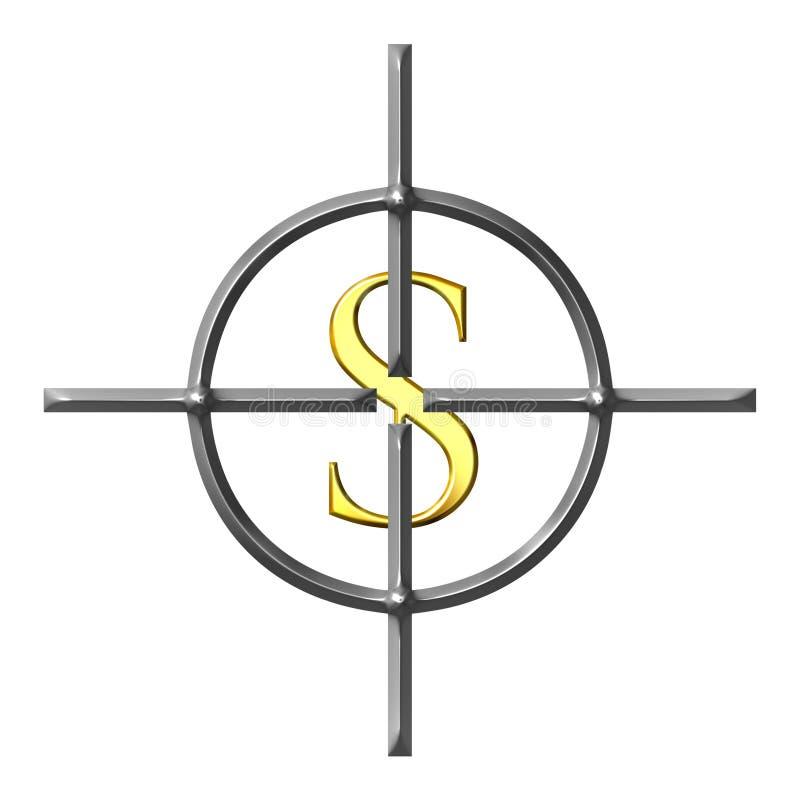 orienter des dollars illustration libre de droits
