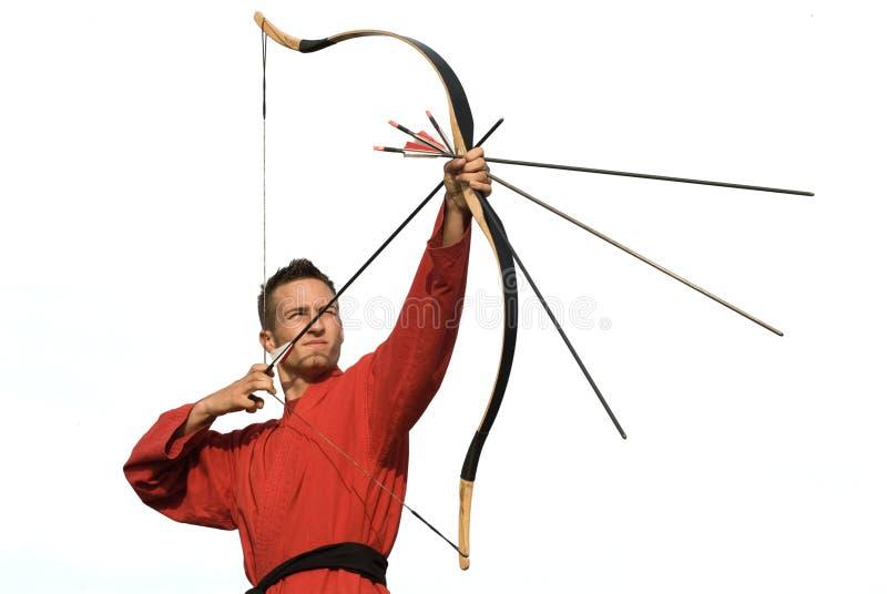 orienter l'archer images stock