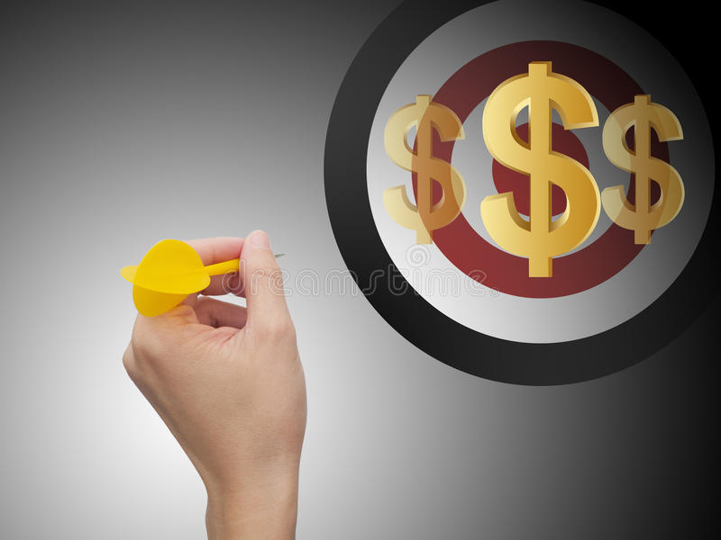 Orienter le dollar illustration stock