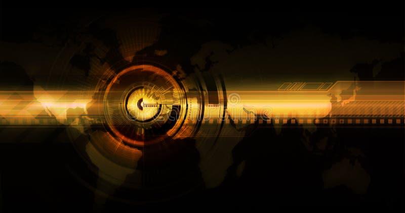 Orienter pour des technologies neuves du monde illustration de vecteur