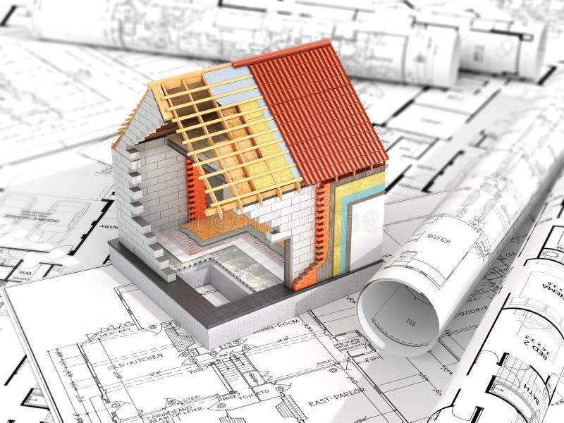 Orientering av huset stock illustrationer