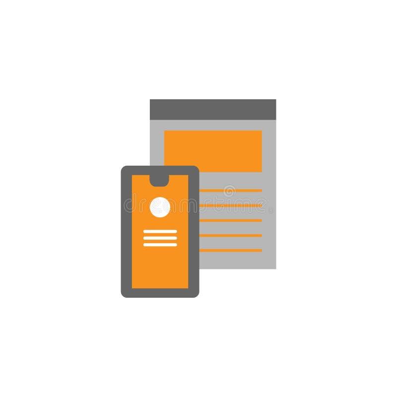 Orientering bildskärmsymbol Beståndsdel av den rengöringsdukDesing symbolen för mobila begrepps- och rengöringsdukapps Den specif stock illustrationer