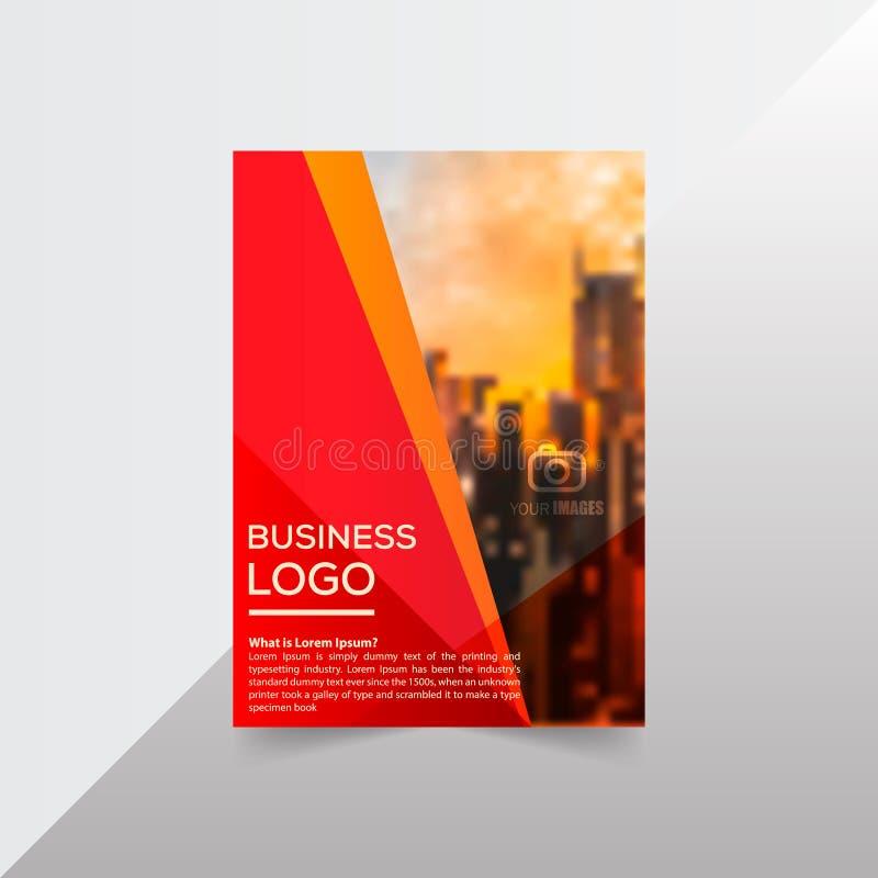 Orientering broschyr, mall, flayer, tidskrift, räkningsdesign för a stock illustrationer