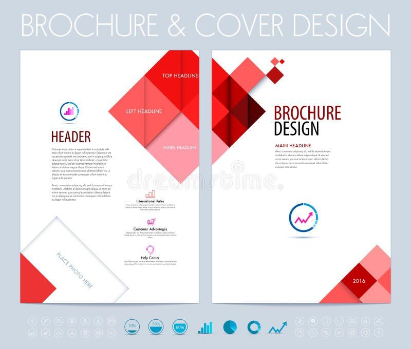 Orientering för affärsbroschyr-, reklamblad- och häftedesign Vektorillus stock illustrationer