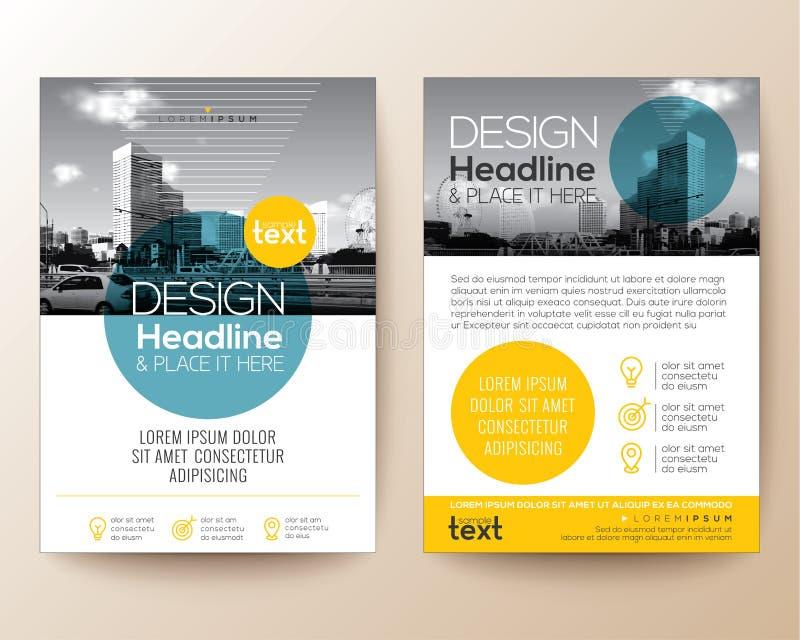 Orientering för design för räkning för broschyr för affischreklambladbroschyr vektor illustrationer
