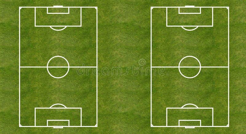 Orientering för fotbollgräsfält vektor illustrationer