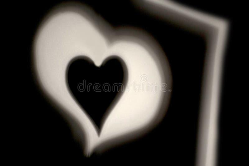 Orientering för hjärtafototryck för hälsningkort och inbjudningar royaltyfria foton