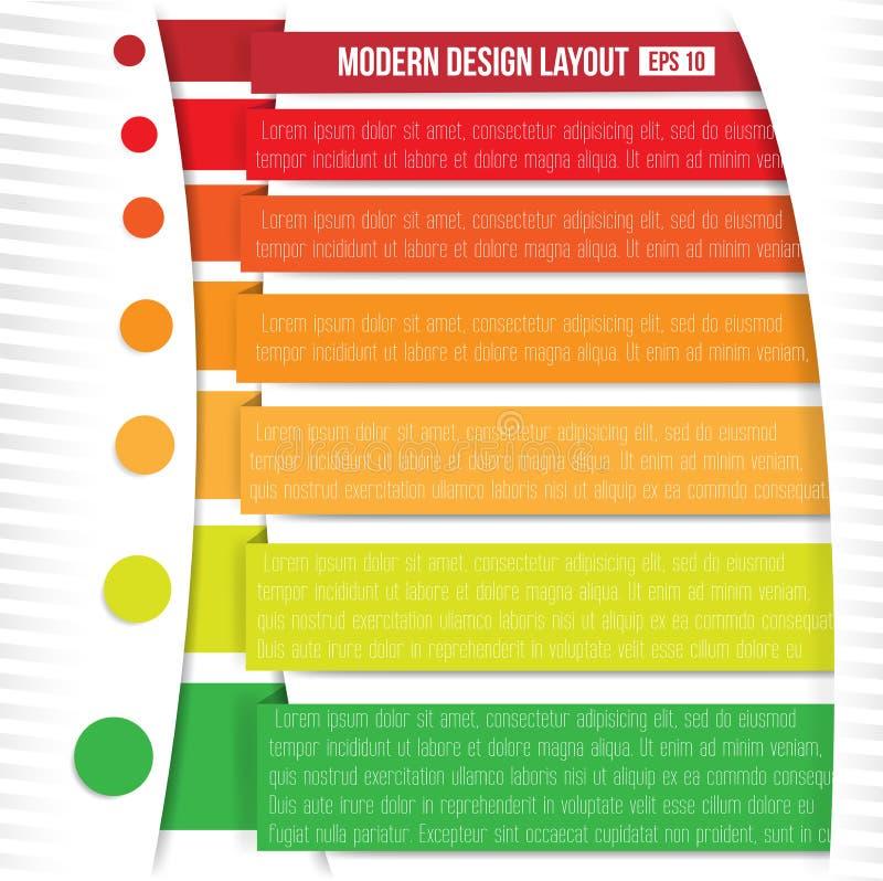 Orientering för modern design royaltyfri illustrationer