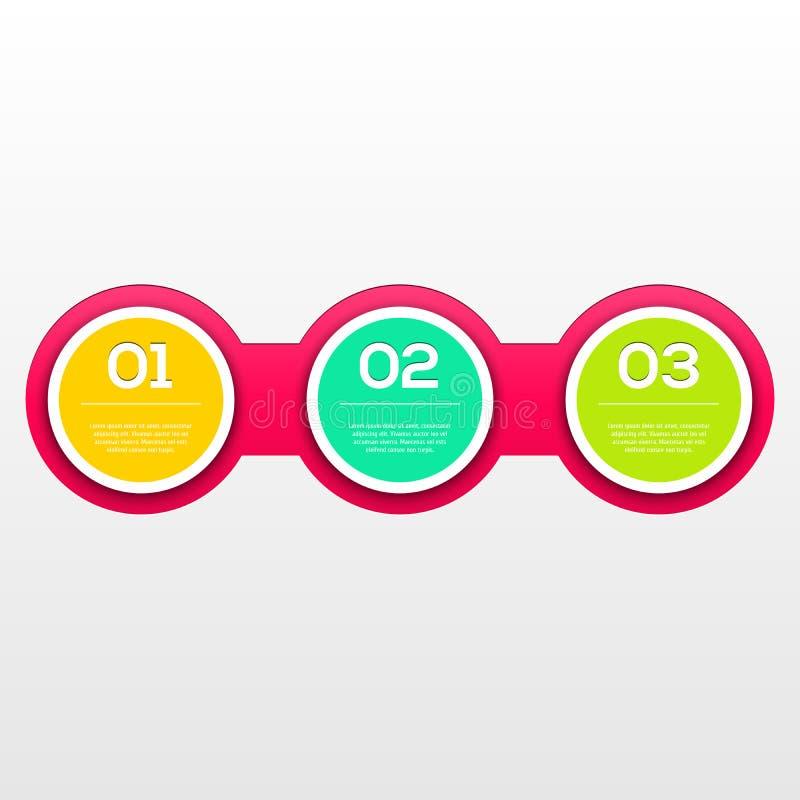 Orientering för modern design Infographic stock illustrationer