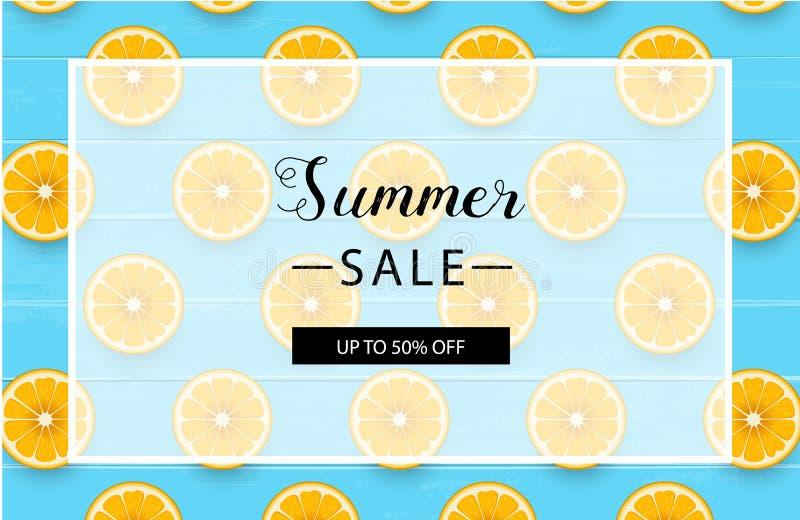 Orientering för sommarförsäljningsbakgrund för baner också vektor för coreldrawillustration royaltyfri illustrationer