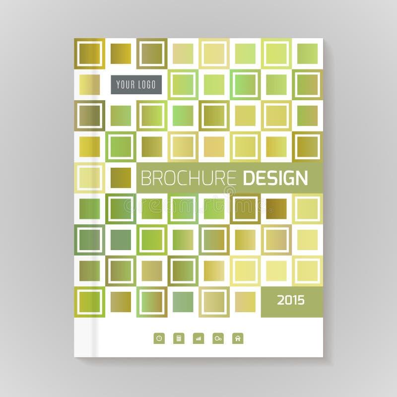 Orientering för vektordesignmall för broschyren, räkning som är infographic stock illustrationer