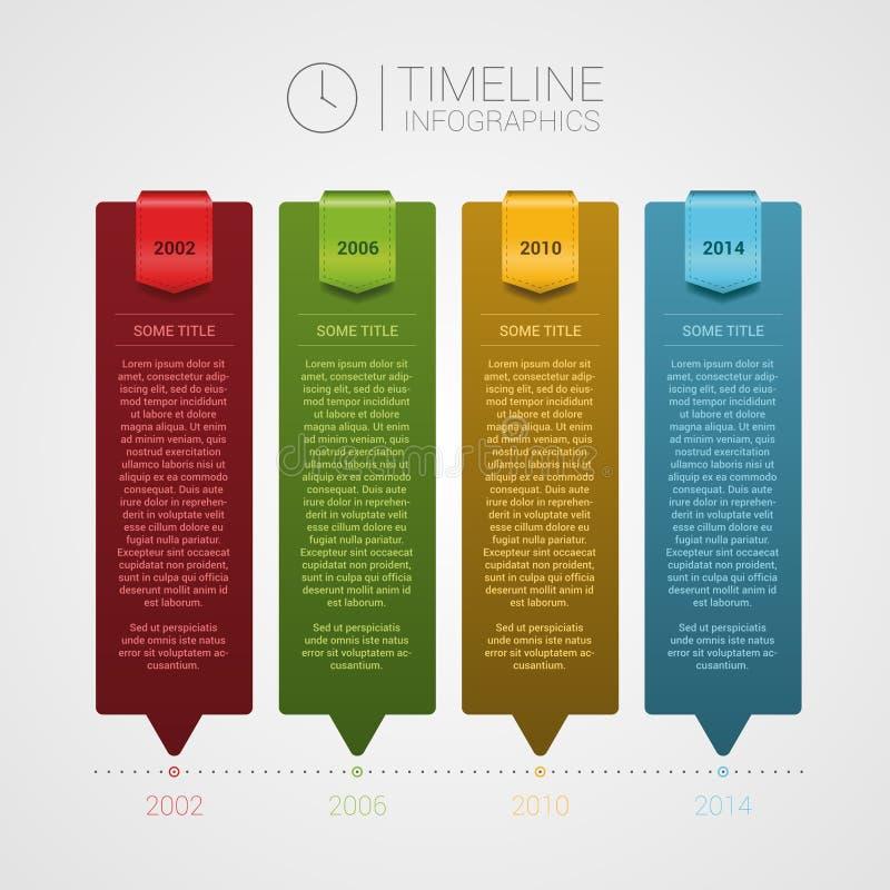 Orientering med mycket utrymme för ditt innehåll Infographics stock illustrationer