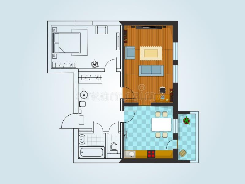Orienteringen av lägenheten royaltyfri illustrationer
